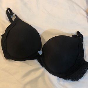 Black bra with lace detail